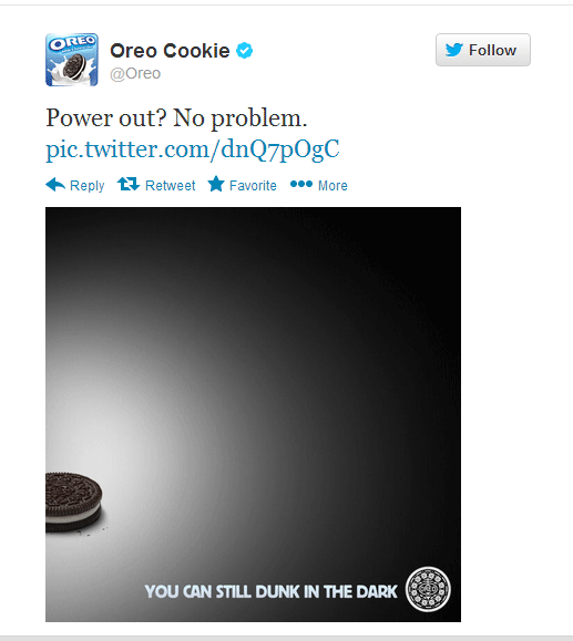 Oreo Superbowl Blackout Tweet