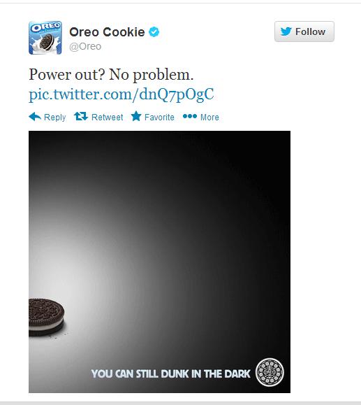 Oreo Superbowl Blackout Tweet