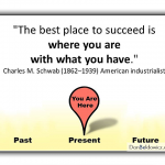The best place to succeed is where you are with what you have - Charles Schwab