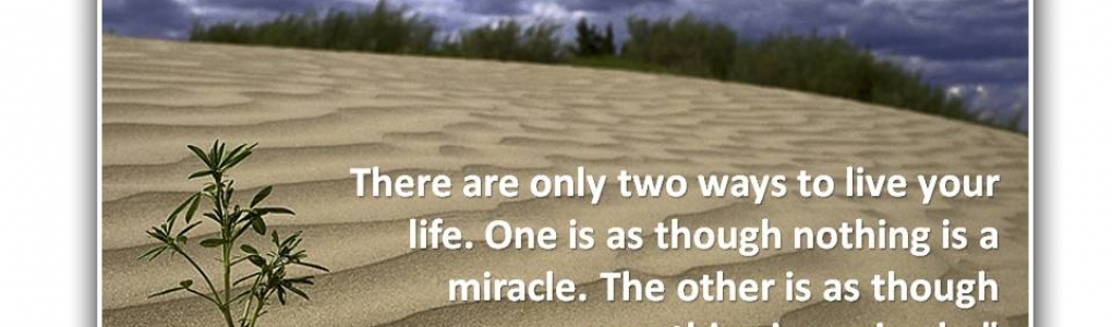 Everything is a Miracle…