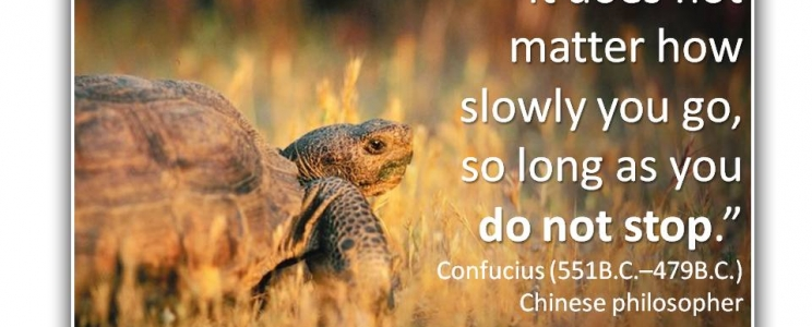 It does not matter how slowly you go…