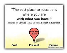 The best place to succeed is where you are with what you have – Charles Schwab